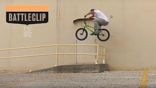BMX BATTLECLIP - AARON ROSS VS THE FAKIE RAIL HOP