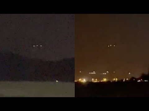 Strange Glowing UFO Orbs Sighted over Cajon Pass Mountain while Driving on Highway in California