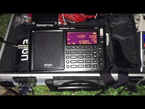 DXing in a large suburban garden: Myanmar Radio 5985 kHz, Myanmar (Burma)
