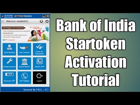 How to activate star token of bank of India ( BOI )