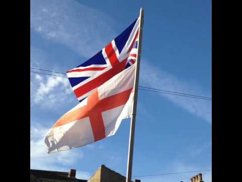 Beautiful British flags flying
