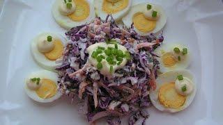 Салат из Краснокочанной капусты № 103 Оригинальный рецепт