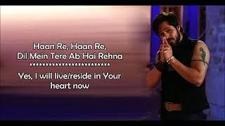 Socha Hai (Love Version) - Jubin Nautiyal & Neeti Mohan - Baadshaho - Lyrical Video With Translation