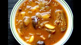 Eggplant / brinjal curry / கத்தரிக்காய் புளி குழம்பு