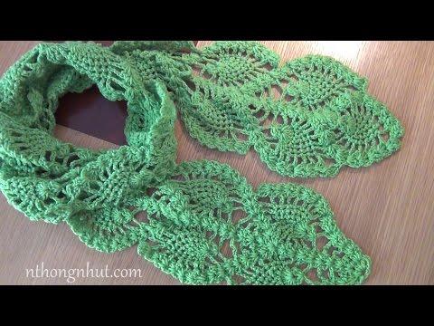 Móc khăn len: móc khăn choàng len cho nữ (Subtitles English)