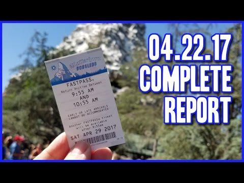 The week we we got a Matterhorn Fastpass  - 04/29/2017