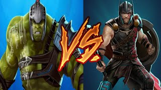 Gladiator Hulk versus Gladiator Thor plus Behemoth Burrito August 16, 2018 | Marvel Puzzle Quest