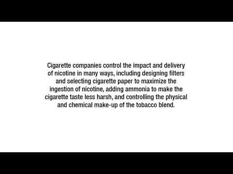 Tobacco Racketeers - Corrective Statements: Manipulation for Nicotine Delivery