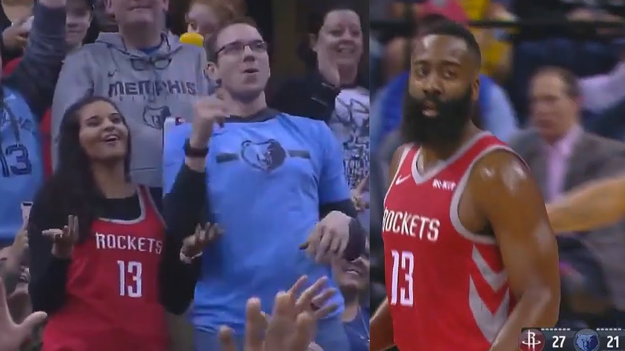 e531346e4582 Fan Fakes Kiss Cam   Tries To Kiss Girl But Gets Rejected Then James Harden  Adds Insult To Injury!