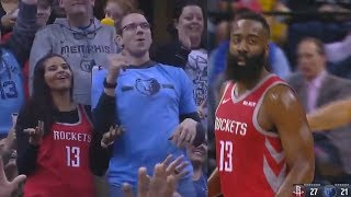Fan Fakes Kiss Cam & Tries To Kiss Girl But Gets Rejected Then James Harden Adds Insult To Injury!