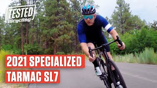 NEW Specialized Tarmac SL7 2021 - The Benchmark Road Race Bike Gets Better | TESTED | Bicycling
