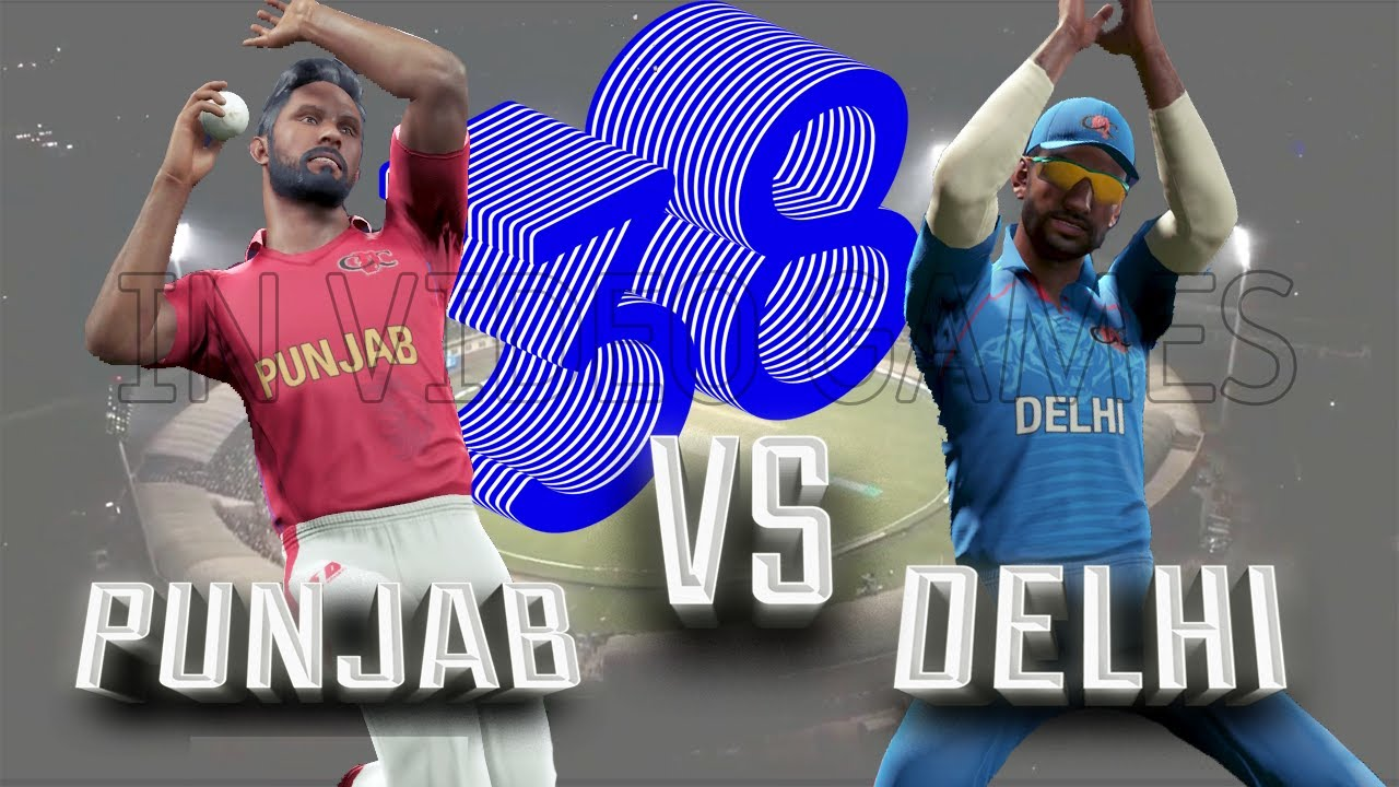 38 Punjab vs Delhi - PUN vs DEL - Match Highlights Indian League Premier 2020 Cricket 19 Game