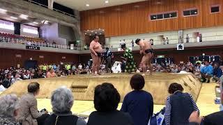 笠間巡業!稀勢の里対豪栄道 稀勢の里 検索動画 28