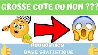 PARIS SPORTIFS: PRONOS TENNIS FEMININ TOP COTE BASE STATISTIQUE + PRONOS FOOT CONSEILLé
