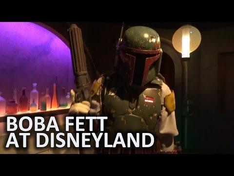 Boba Fett meet-and-greet inside Star Wars Launch Bay at Disneyland