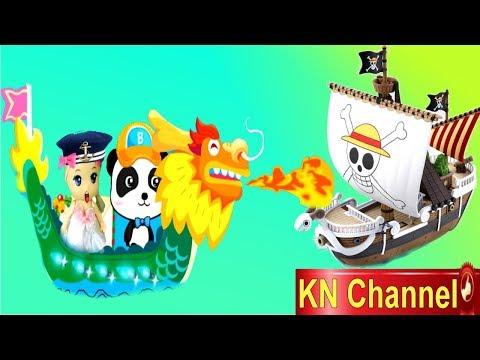 Trò chơi KN Channel BÚP BÊ TẬP LÀM NGƯỜI GIAO HÀNG BẰNG THUYỀN RỒNG ÔNG GIÀ NOEL