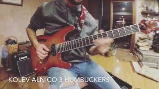 Kolev Custom Alnico 3 Pickups Demo by Noe Perez