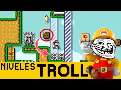 Yo y los Bloques ¿USTED NO APRENDE VERDAD? - NIVELES TROLL #19 | Super Mario Maker  - ZetaSSJ