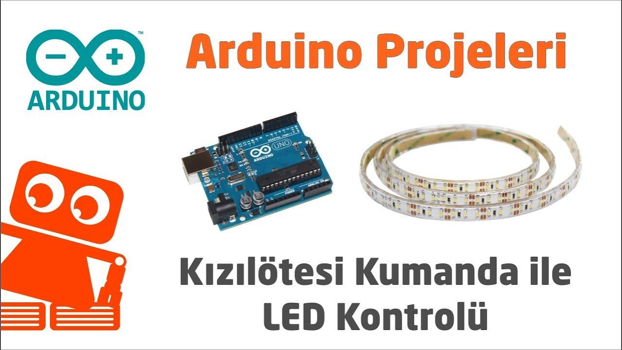 Arduino Uno İle TV Kumandası Kullanarak Şerit LED Kontrolü Yaptık!
