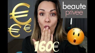 J'AI DEPENSE 160€ sur BEAUTE PRIVEE!!! (Nacomi, Golden Rose, L'Oreal, Energie fruit....)