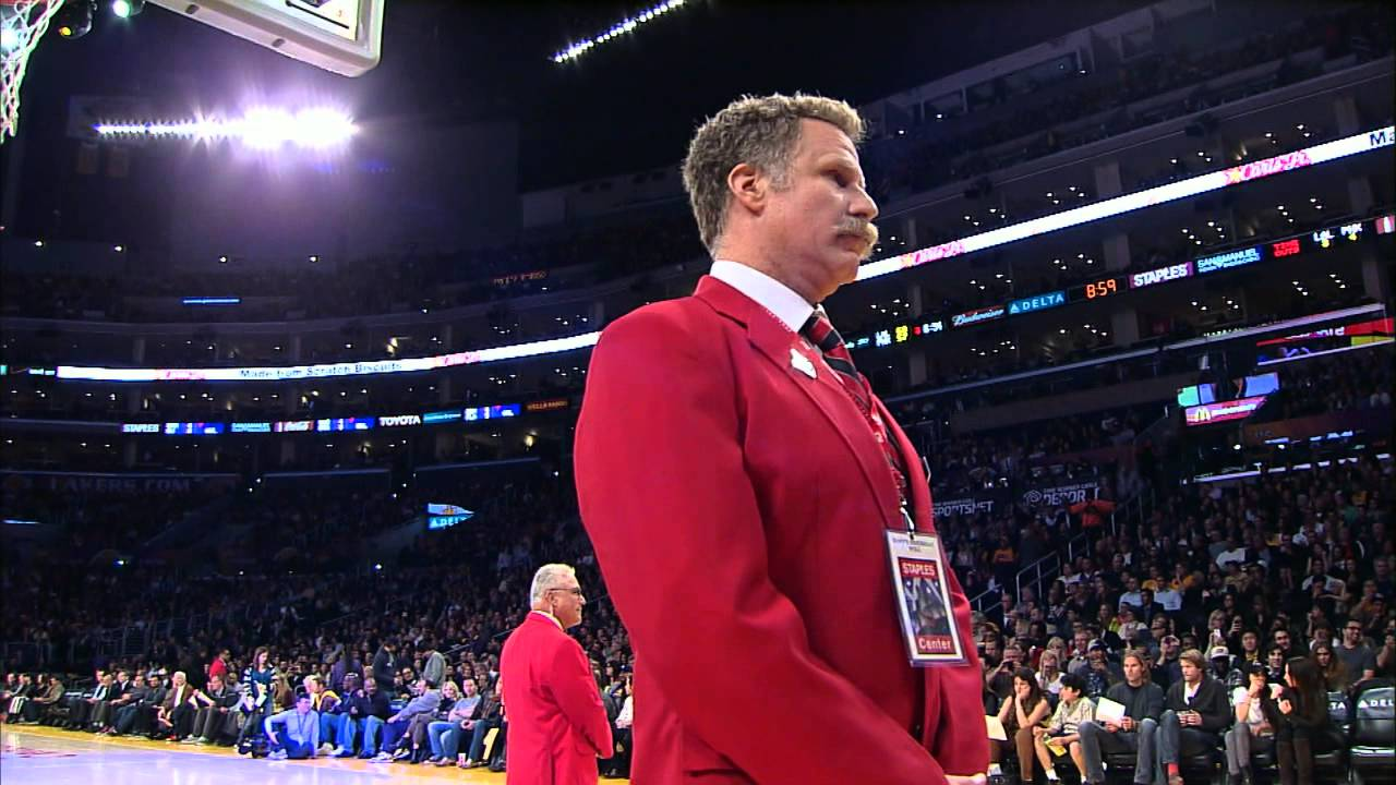 Will Ferrell a security guard at Staples Center?? - YouTube