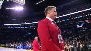 Will Ferrell a security guard at Staples Center??