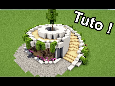 minecraft tuto comment faire une maison moderne en. Black Bedroom Furniture Sets. Home Design Ideas