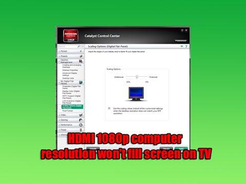windows 10 to tv hdmi full screen