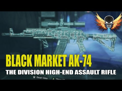 Black market AK-74 Maxed! The Division Weapon In Depth