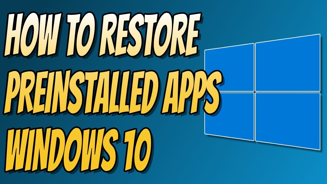 how to delete preinstalled apps on windows 10