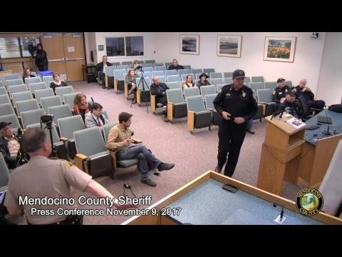 Mendocino County Sheriff's Press Conference 11/9/2017