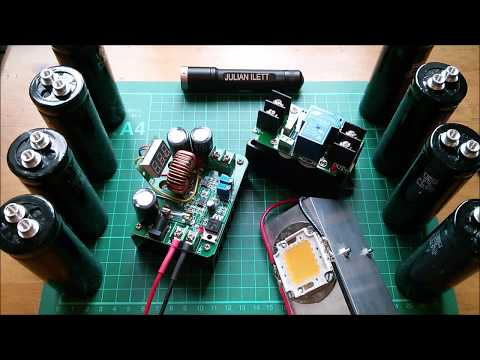 Supercapacitor Powered 100W LED Flashlight Project - Viability