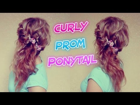 CURLY PROM PONYTAIL HAIRSTYLE | Awesome Hairstyles - YouTube