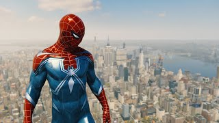 Spider-Man PS4 - Amazing Skydive With Electrict Power From Freedom Tower