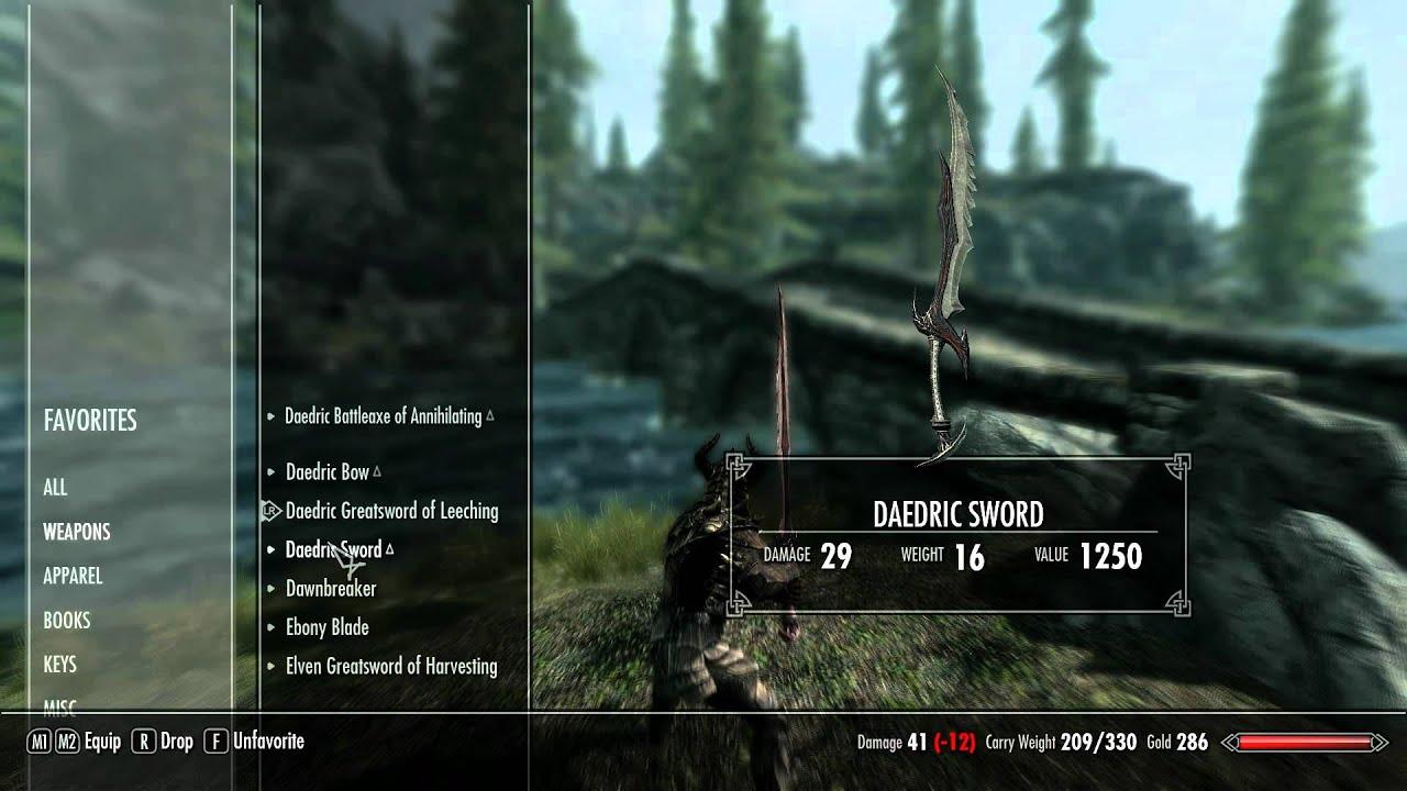 SKYRIM Enchanted Weapons Top Tier