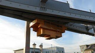 湘南モノレール・湘南深沢駅のポイント故障の復旧作業 [2018/8/18](Shonan monorail)