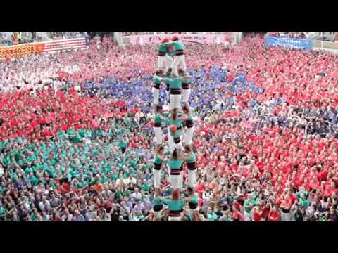 Tarragona, Spain human tower competition