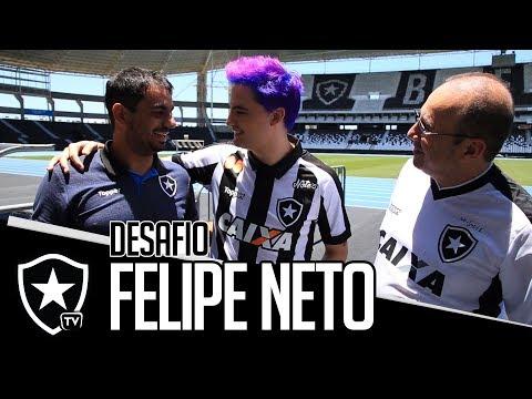 Felipe Neto lança patrocínio e desafia a Botafogo TV