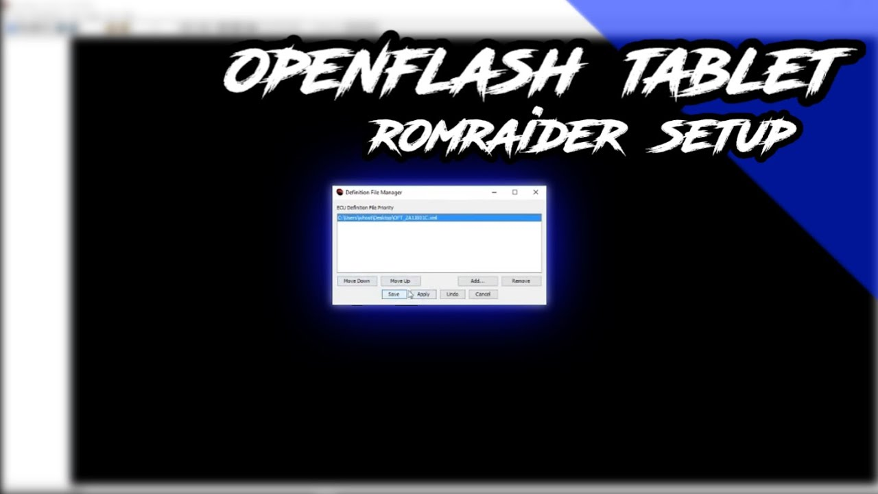 Openflash Tablet ROMRaider Setup and Backfire/Pop Tune!