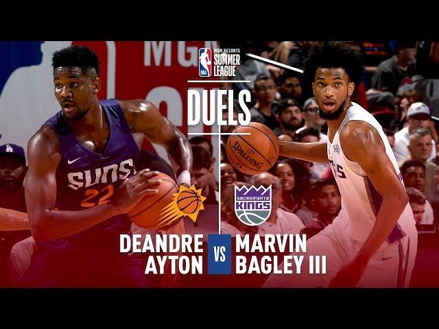 Top 2 Draft Picks Duel - #1 Deandre Ayton vs #2 Marvin Bagley III | 2018 MGM Resorts Summer League