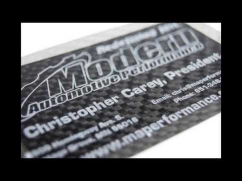 Real Carbon Fiber Business Cards - Quantity 200 - YouTube