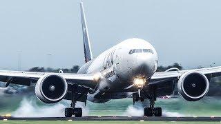 10 HEAVY BOEING LANDINGS at Amsterdam - Boeing 747, B777, B787 (4K)