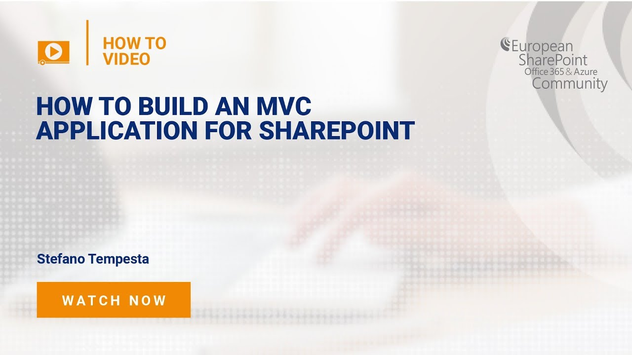 How to Build an MVC Application for SharePoint - European