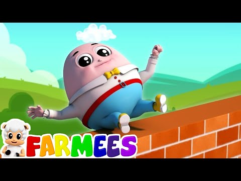 humpty dumpty sat on a wall | nursery rhymes Farmees | kids songs | baby rhymes by Farmees