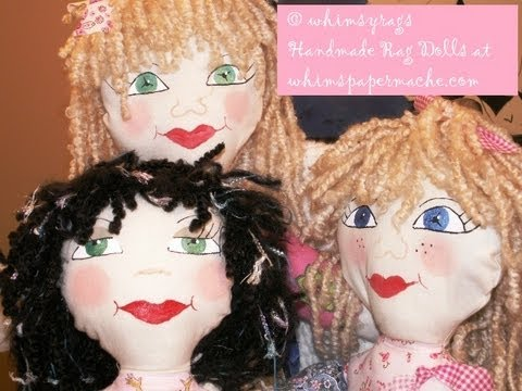 Painting Whimsical Cloth Doll Faces Using Paints