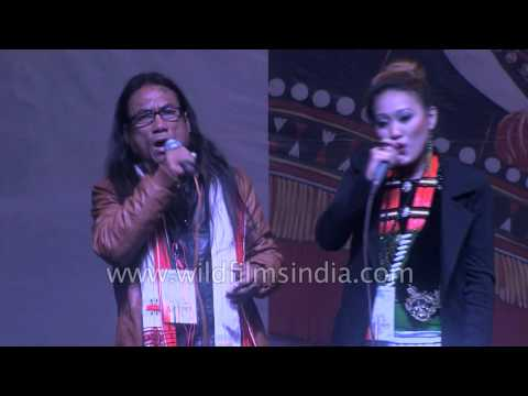 Rongmei singers Guru Jiengam Kamei and Alvina Gonson share stage together