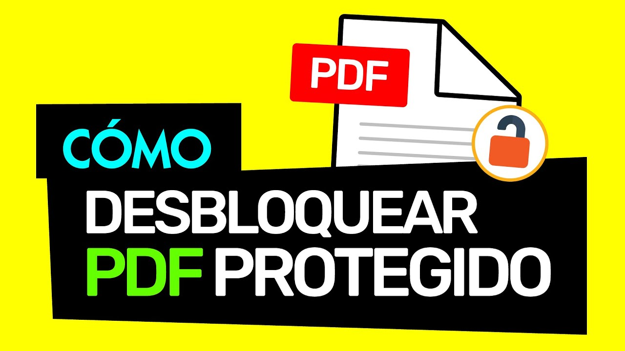 How to unlock PDF files