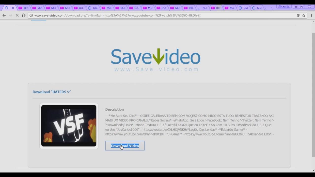 como baixar video youtube