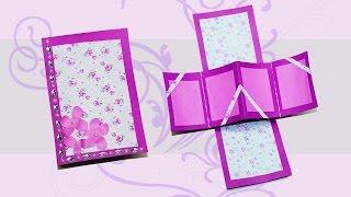Diy squash card accordion card tutorial diy cards clipzui do if yourself greeting cards twist and pop card diy gift card love card m4hsunfo