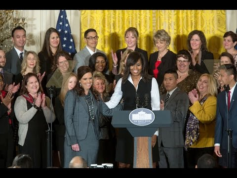 The First Lady Honors the 2016 School Counselors of the Year The White House